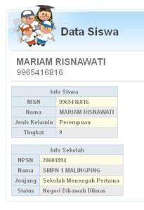 NISN Mariam Risnawati