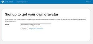 Mendaftarkan Email pada Gravatar