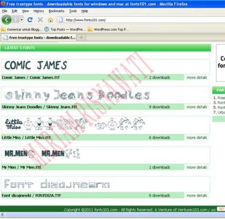 Web Jenis Font